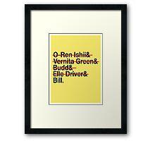 Jetset Death List Five Framed Print