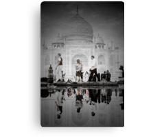 One Morning at the Taj Canvas Print