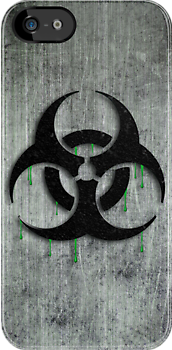 Dripping Biohazard Symbol by screamingtiki