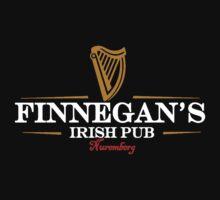 Finnegans Irish Pub White Lettering Logo by FinnegansNbg