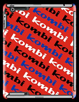 VW iPad case - Kombi Kombi Kombi - RED by melodyart
