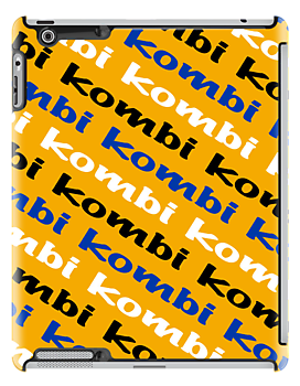 VW iPad case - Kombi Kombi Kombi - Yellow by melodyart
