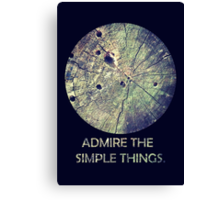 Admire The Simple Things Canvas Print