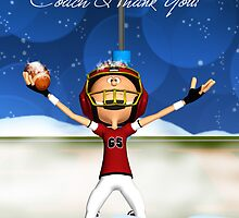 Happy Christmas And Thank You Coach, American Football by Moonlake