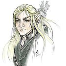 LOTR Portrait - Legolas by tonksiford