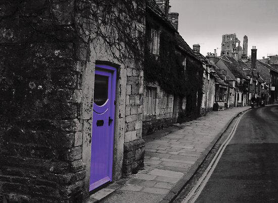 Purple door by Anne Staub
