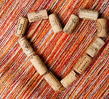 Wine cork heart by Mariann Rea
