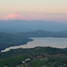 Mount Etna overlooking Pozzillo lake by cicciofarmaco
