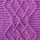 Knitted diamonds  by knititude