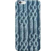 Knitted ribs and braided cables iPhone Case/Skin