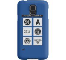 GEEKY POLICE BOX 2 Samsung Galaxy Case/Skin