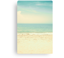Mint Pastel Pale Blue Beach  Canvas Print