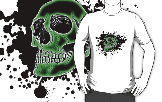Green Skull Glow by MrBliss4