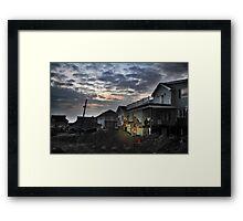 Hurricane Sandy in Bel Harbor, NY - Blackout days Framed Print