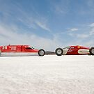 Salt Lake Racers on Lake Gairdner by Frank Kletschkus
