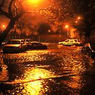 Hurricane Sandy in Brooklyn NY - 11pm, October 29, 2012 by Anton Oparin