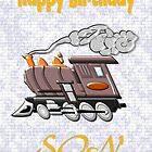 A Loco for a Happy Birthday Son by Dennis Melling