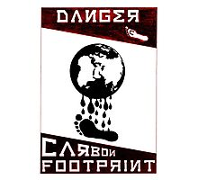 Danger, Carbon Footprint ( ii ) Red/Black Photographic Print