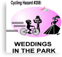 Cycling Hazard - Wedding in the park Canvas Print