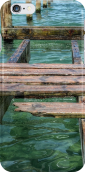 The Old Pier   iPhone/iPod Case by 242Digital