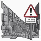 Low Flying Spacecraft - Sticker by DoodleDojo
