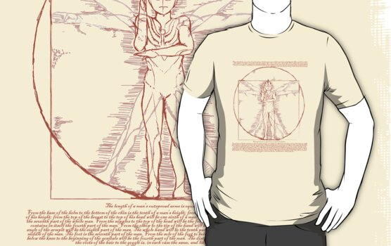 Vitruvian Ultra Man by Creative Outpouring