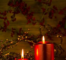 Two candles Christmas decoration by homydesign