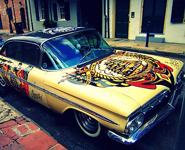 Sailor Jerry Car in the French Quarter by Rich Anderson