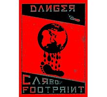 Danger, Carbon Footprint ( ii ) 3 tone Photographic Print