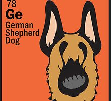German Shepherd - The Dog Table by Angry Squirrel Studio