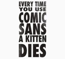 Comic Sans Black Kids Clothes