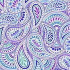 Purple Paisley by Janet Broxon