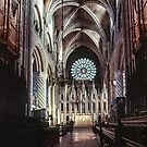 Nave Choir Durham Cathedral 198101040038 by Fred Mitchell