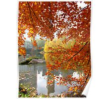 Autumn in Central Park, New York City Poster