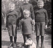 1910 Pit Bull  A Family Dog by Deanna Maxwell