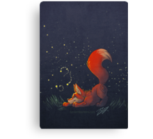 Firefly Fox - Red Canvas Print