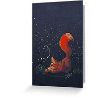 Firefly Fox - Red Greeting Card