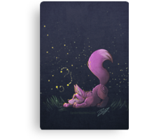 Firefly Fox - Pink Canvas Print