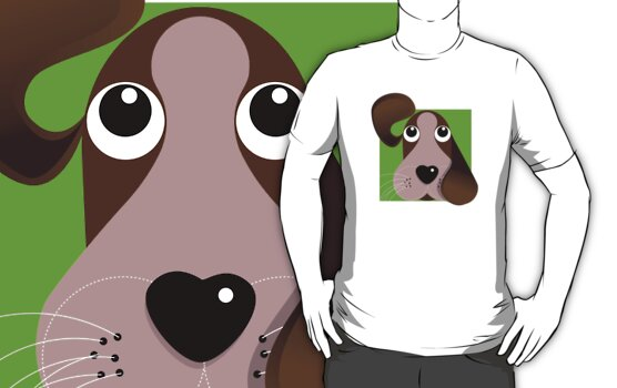 All Ears! - Puppy dog T Shirt by BlueShift