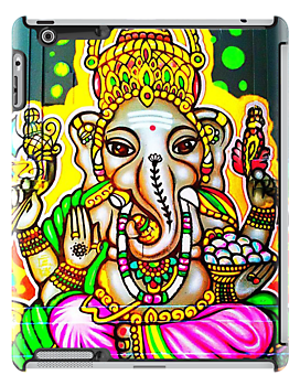 Melbourne Graffiti Street Art Ganesh Elephant Neon Colours by NicNik Designs