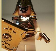 'The Golden Man' Super Villian Custom LEGO® Minifigure, by 'Customize My Minifig' by Chillee