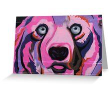 Melbourne Graffiti Street Art Pink Bear Greeting Card