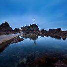 Blue hour, La Corbiere, Jersey by Rachael Talibart
