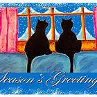 """Kitties Watching For Santa"" by Steve Farr"