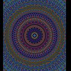 Blue Mandala-iPad Case by Pamela Phelps