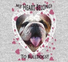 I LOVE BULLDOGS TEE by Spiritinme