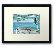 Somewhere Out West of New Providence Island in The Bahamas Framed Print