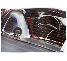 Mercedes-Benz SLK 250 Turbo Steering Wheel [ Print & iPad / iPod / iPhone Case ] Poster