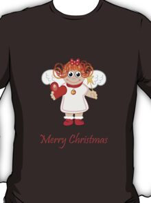 Cute Angel with Heart, star and text T-Shirt
