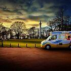 Ice cream van at Ashridge monument by hobgoblin